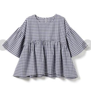グレイル(GRL)のGRL♡ギンガムボリュームトップス(シャツ/ブラウス(半袖/袖なし))