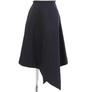 ENFOLD - エンフォルド  enfold  ボンディング スカート  2017aw ネイビー