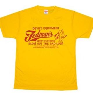 テッドマン/速乾ドライTシャツ/イエロー/tdryt-300/カミナリ(Tシャツ/カットソー(半袖/袖なし))
