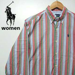 ラルフローレン(Ralph Lauren)の524 レディース ポロバイラルフローレン ストライプ シャツ ポニー刺繍(シャツ/ブラウス(長袖/七分))