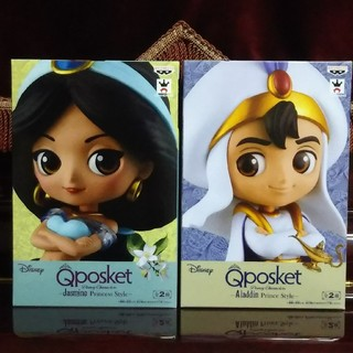 Disney - Q posket Disney ジャスミン&アラジン レアカラー 2種セット
