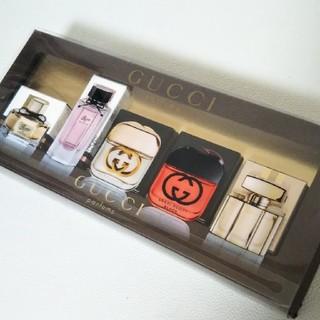 グッチ(Gucci)の【GUCCI】未使用GUCCI  parfums    5ml   5点セット(香水(女性用))