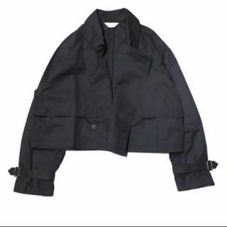 ジエダ(Jieda)のJIEDA SHORT TRENCH BLACK(トレンチコート)