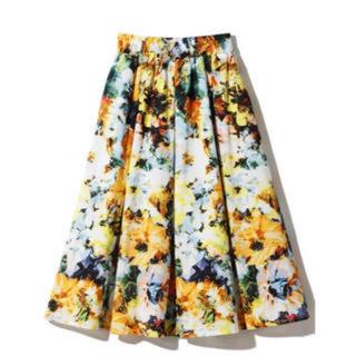 グレイル(GRL)のGRL グレイル 花柄スカート(ひざ丈スカート)