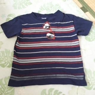 イッカ(ikka)の紺色ボーダーTシャツ140cm(Tシャツ/カットソー)