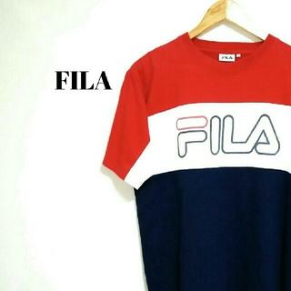 FILA - トレンド☆ ビッグシルエット フィラ Tシャツ デカロゴ メンズ