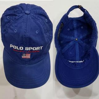 ポロラルフローレン(POLO RALPH LAUREN)の超レア オリジナルヴィンテージ  ポロラルフローレン ポロスポーツ キャップ(キャップ)