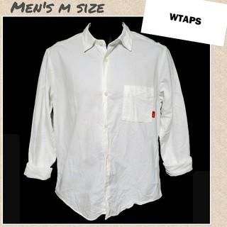 ダブルタップス(W)taps)の☆WTAPS☆長袖オックスフォードシャツ 刺繍ロゴ 赤タブ メンズMサイズ(シャツ)