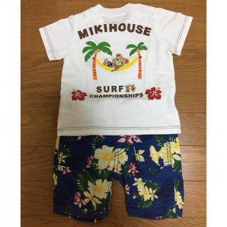 mikihouse - ミキハウス ダブルビー 半袖Tシャツ、アロハパンツセット(80)
