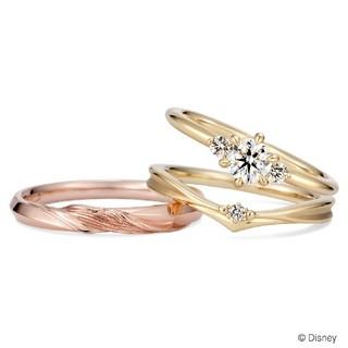 Disney - 美女と野獣 ケイウノ ペアリング 結婚指輪にも 刻印なし