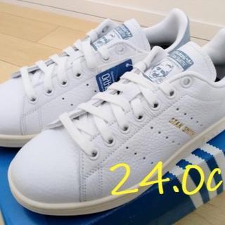 アディダス(adidas)の【24.0cm】新品未使用‼︎ adidasオリジナルススタンスミス ブルー(スニーカー)
