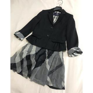 バーバリー(BURBERRY)の美品 バーバリー ロンドン セットアップ 130cm ジャケット スカート  黒(ドレス/フォーマル)