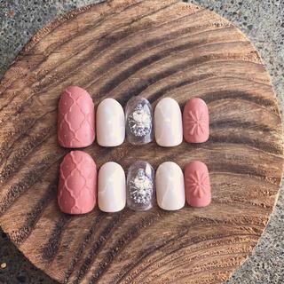 モロッカンタイル柄 大理石 ネイルチップ