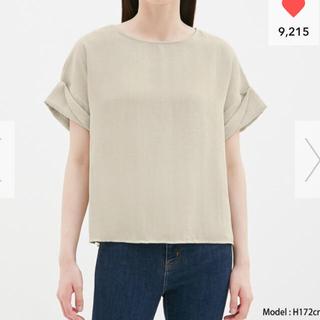 ジーユー(GU)の新品未開封ロールアップスリーブブラウスS(シャツ/ブラウス(半袖/袖なし))