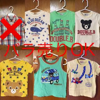 ミキハウス(mikihouse)の【ミキハウス】半袖Tシャツ まとめ売り 90サイズ【ダブルビー】(Tシャツ/カットソー)