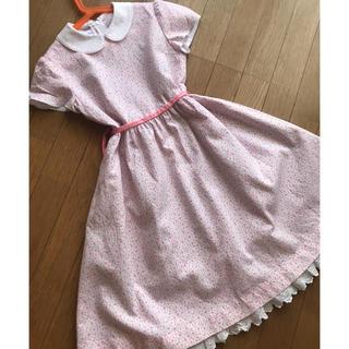 familiar - ワンピース ファミリア  ピンク 花 リボン 140