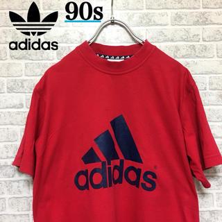 アディダス(adidas)のadidas アディダス ビッグロゴTシャツ 90s 万国旗タグ(Tシャツ/カットソー(半袖/袖なし))