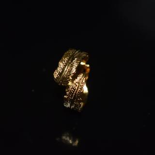 フェザー リング 指輪 羽 ゴールド K24 コーティング ストリート サーフ(リング(指輪))