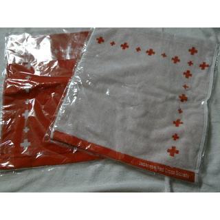 イマバリタオル(今治タオル)の日本赤十字社 ハンドタオル 2枚(タオル/バス用品)