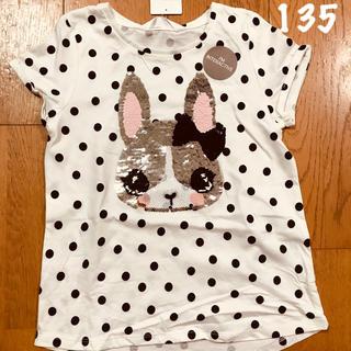 H&M - ❤️135 うさぎちゃんスパンコール TシャツH&M