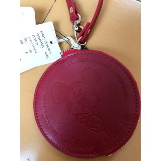 スタディオクリップ(STUDIO CLIP)の新品 スタジオクリップ ディズニー ミッキー 90周年記念 コインケース 赤(財布)
