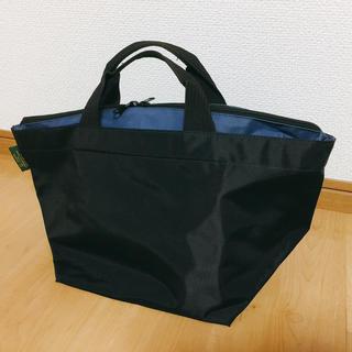 エルベシャプリエ(Herve Chapelier)のエルベシャプルエ トートバッグ ブラック×ブルー(トートバッグ)