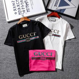 [2枚5000円送料込み] Tシャツ 半袖 男女兼用 gucci