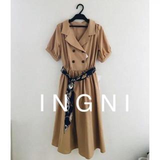 イング(INGNI)のス最新 I N G N Iカーフ&ベーシックサッシュ付/トレンチワンピース(ロングワンピース/マキシワンピース)