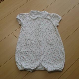 ラルフローレン(Ralph Lauren)のラルフローレン  ベビー  80   襟つき  半袖  ホワイト(ロンパース)