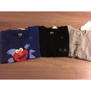 ユニクロ(UNIQLO)のお値下げ!3枚セット!ユニクロKAWSキッズコラボTシャツ100(Tシャツ/カットソー)