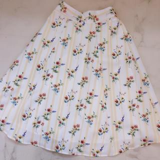 tocco - toccocloset 花柄×ストライプスカート