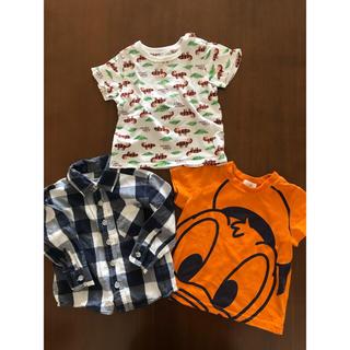 ユニクロ(UNIQLO)のTシャツ 90  3枚セット 長袖シャツ 半袖(Tシャツ/カットソー)