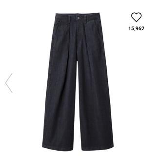GU - 新品 GU バギージーンズ Lサイズ ネイビー