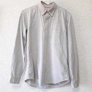 GU - 【GU】ボタンダウン長袖Yシャツ Sサイズ メンズ グレー カジュアル シンプル