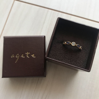 アガット(agete)の【agete】K10リング ブルー系(リング(指輪))