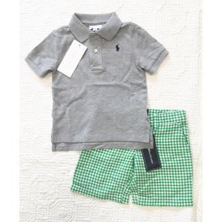 Ralph Lauren - 新品未使用 ラルフローレン半袖ポロシャツハーフパンツセット2t24m90センチ