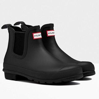 ハンター(HUNTER)の新品未使用  ハンター レディース ショートレインブーツ 23cm ブラック (レインブーツ/長靴)