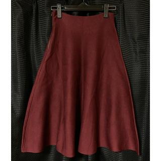 アズノゥアズピンキー(AS KNOW AS PINKY)のニットスカート(ひざ丈スカート)