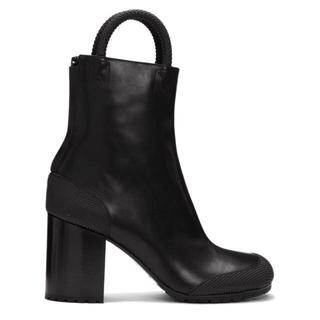 マルタンマルジェラ(Maison Martin Margiela)のrandom identities ブラックワーカーブーツ(ブーツ)