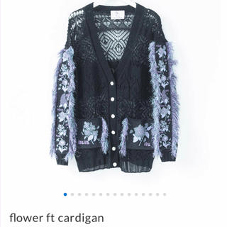 rurumu:  flower ft cardigan black(カーディガン)
