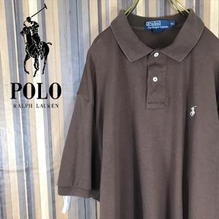 ラルフローレン(Ralph Lauren)のポロ ラルフローレン ワンポイントロゴ刺繍 ポロシャツ 半袖 ブラウン XL(ポロシャツ)