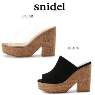 スナイデル(snidel)のスナイデル𓆸クリアサンダル𓂃サボ(サンダル)