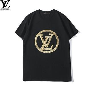 LV  メンズ  ファッション  半袖 Tシャツ 丸首  おしゃれ 送料無料