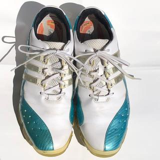 アディダス(adidas)のアディダスゴルフシューズ 26 白水色(シューズ)