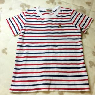 ミキハウス(mikihouse)のミキハウス 110 Tシャツ ボーダー 赤 青 美品(Tシャツ/カットソー)
