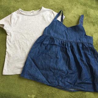 GU - 女の子 Tシャツ 110