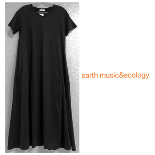 earth music & ecology - earth music&ecology ロング&ビッグTシャツワンピース
