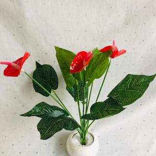 アンスリウム 造花 リーフ フェイクグリーン ハワイアン 南国 観葉植物
