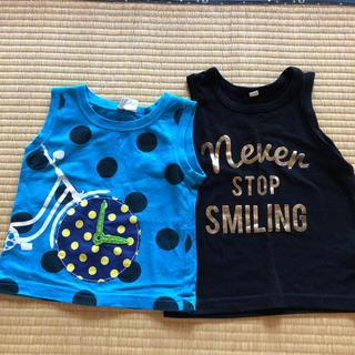 ニシマツヤ(西松屋)のタンクトップ(90→95cm)(Tシャツ/カットソー)