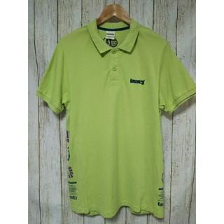 ランドリー(LAUNDRY)のLaundry ランドリー ポロシャツ 半袖 グリーン ロゴ Mサイズ メンズ(ポロシャツ)